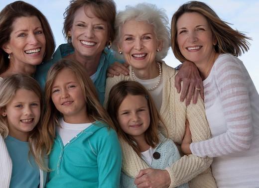 Smiling Caucasian family : Stock Photo