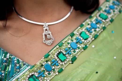 Close up of Indian woman´s sari : Stock Photo