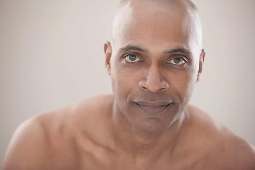 Serious Black man : Stock Photo
