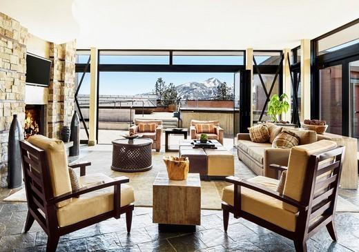 Interior of elegant living room : Stock Photo