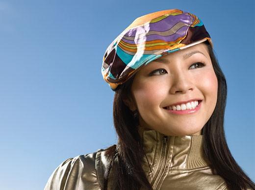 Asian woman wearing hat : Stock Photo