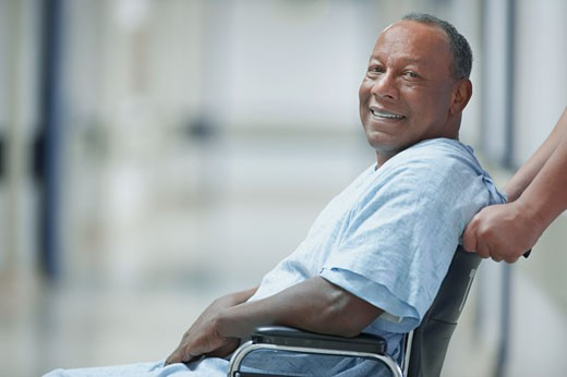 African American man in wheelchair : Stock Photo