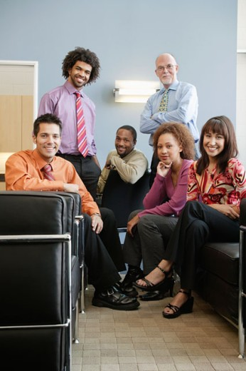 Stock Photo: 1589R-02372 Portrait of a group of business executives