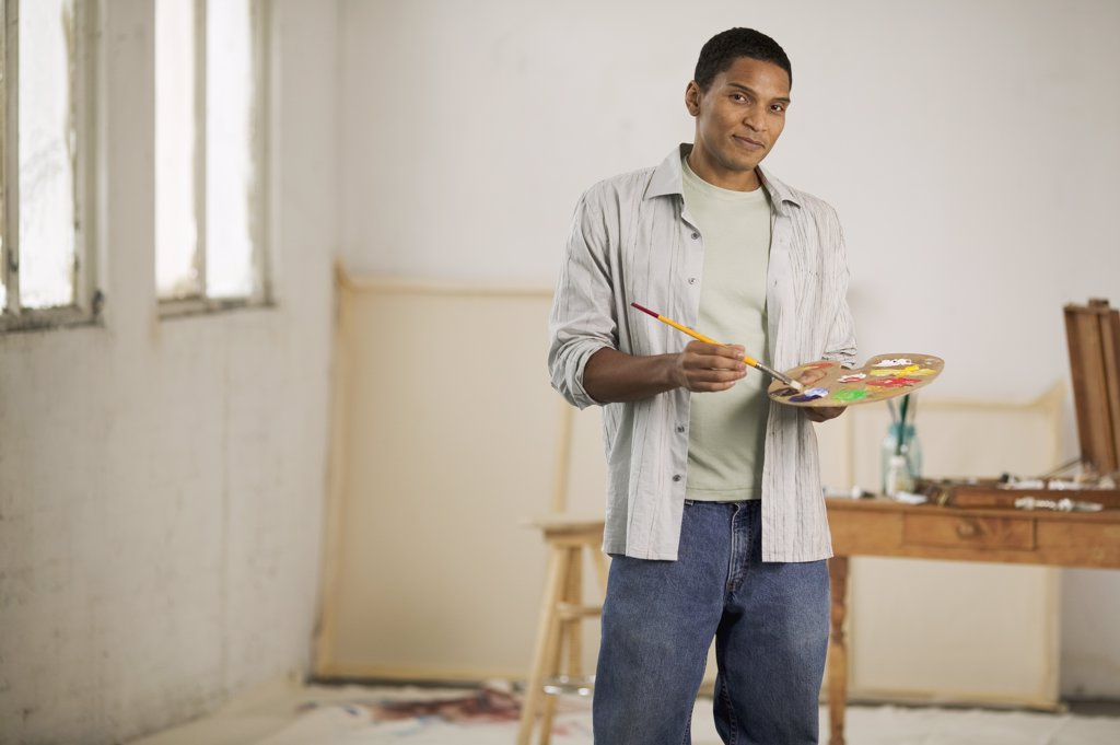 Stock Photo: 1589R-02584 Portrait of an artist