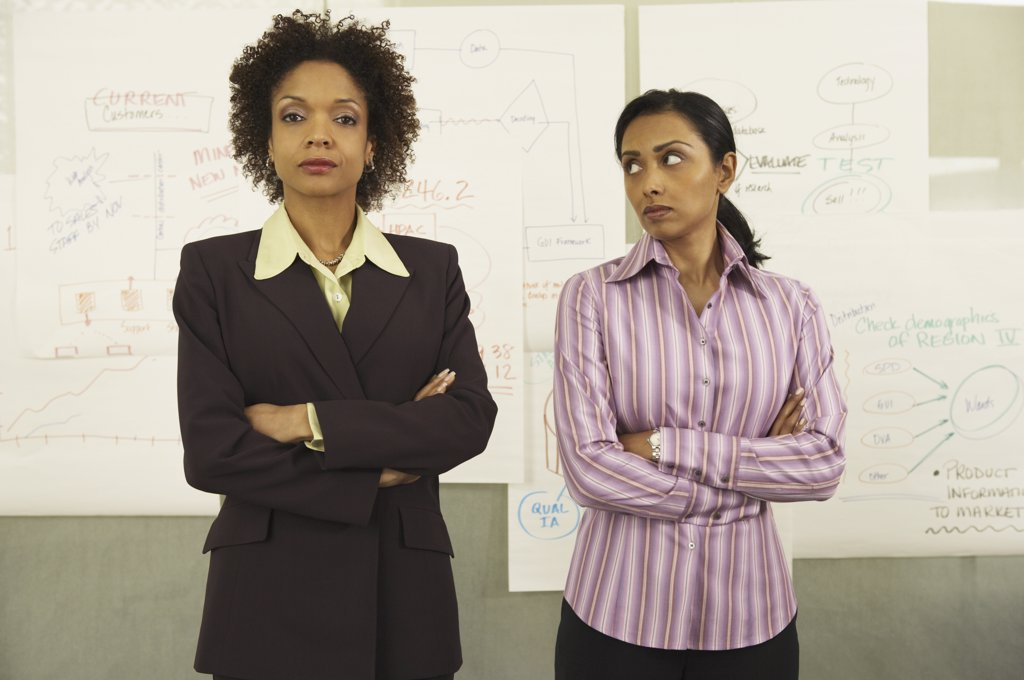 Stock Photo: 1589R-10837 Two businesswomen standing together