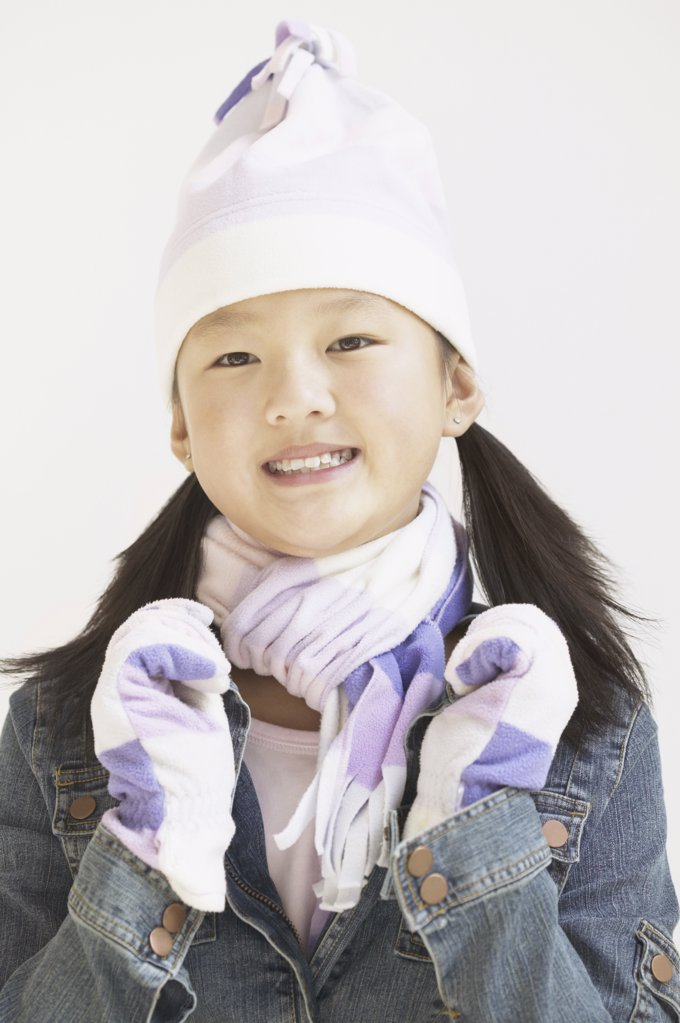 Stock Photo: 1589R-11367 Girl wearing warm clothes