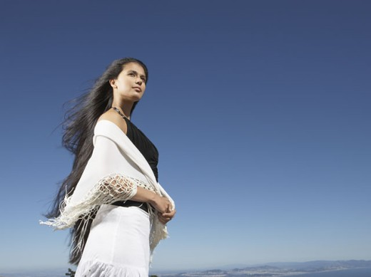 Stock Photo: 1589R-11854 Woman staring into the distance