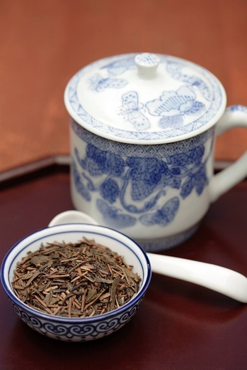 Sen cha tea in bowl : Stock Photo