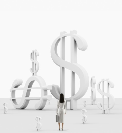 Stock Photo: 1589R-14135 Businesswoman in financial environment