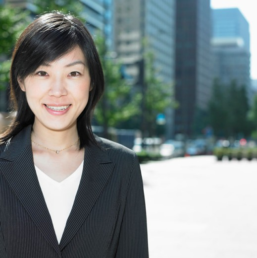 Stock Photo: 1589R-14484 Businesswoman smiling