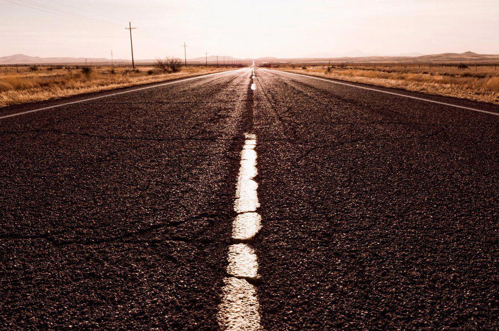 Road in remote area : Stock Photo