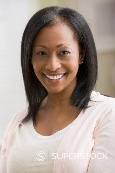 Stock Photo: 1589R-159834 Smiling African American woman