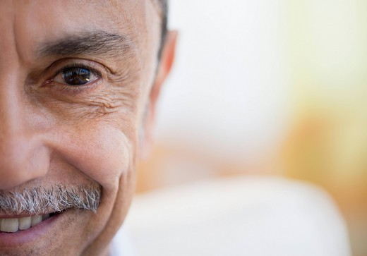 Smiling Hispanic man : Stock Photo