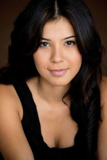 Smiling Hispanic woman : Stock Photo
