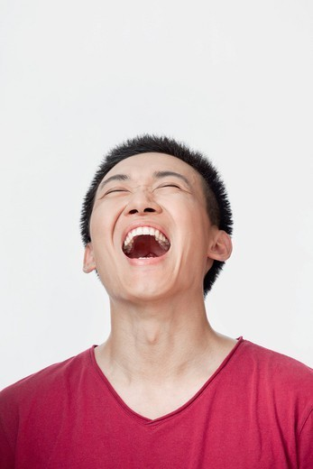 Laughing Chinese man : Stock Photo