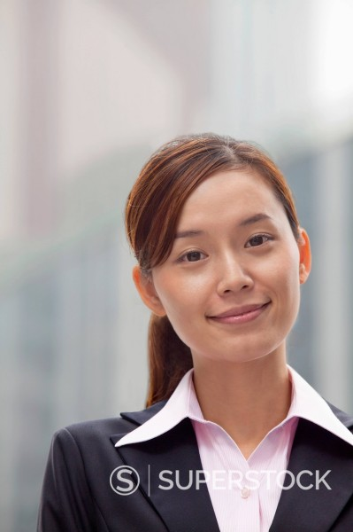 Stock Photo: 1589R-169953 Smiling Chinese businesswoman