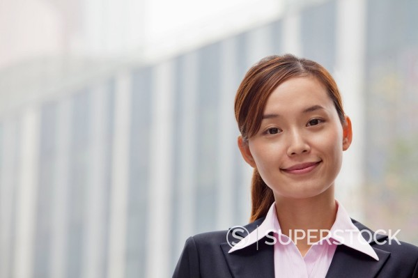 Stock Photo: 1589R-169954 Smiling Chinese businesswoman