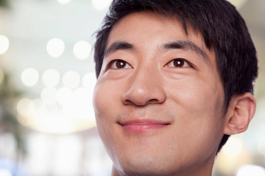 Stock Photo: 1589R-170226 Smiling Chinese man