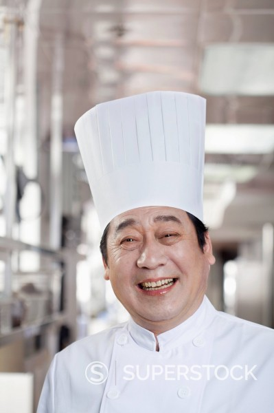 Stock Photo: 1589R-170405 Smiling Chinese chef