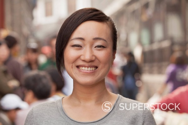 Stock Photo: 1589R-170450 Smiling Chinese woman