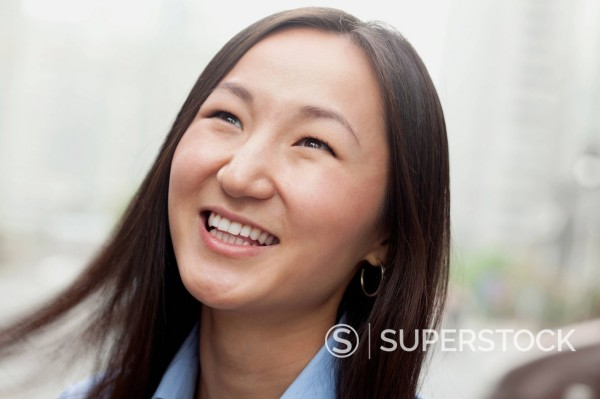 Smiling Russian businesswoman : Stock Photo