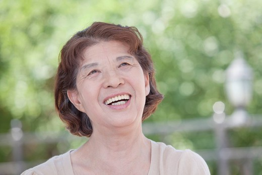 Stock Photo: 1589R-171336 Smiling older Chinese woman