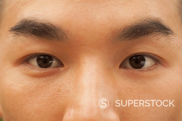 Close up of Chinese man´s eyes : Stock Photo