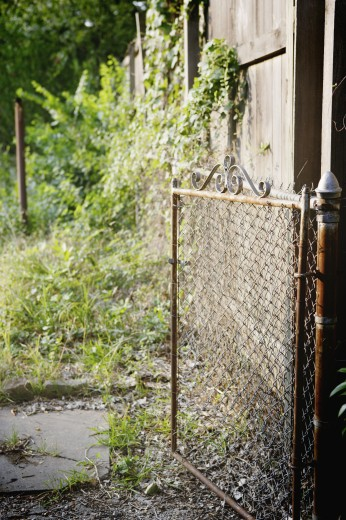 Rusted gate : Stock Photo