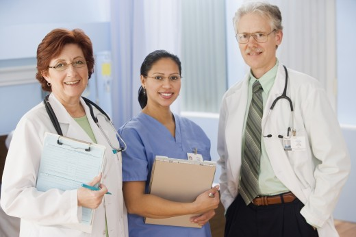 Stock Photo: 1589R-24640 Group of health care professionals