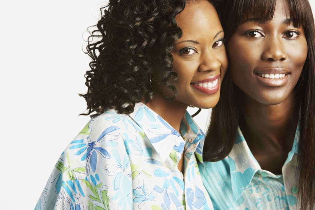 Stock Photo: 1589R-29081 Studio shot of two African women smiling