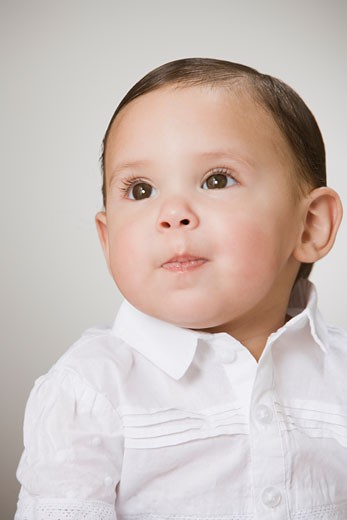 Stock Photo: 1589R-34965 Studio shot of baby boy