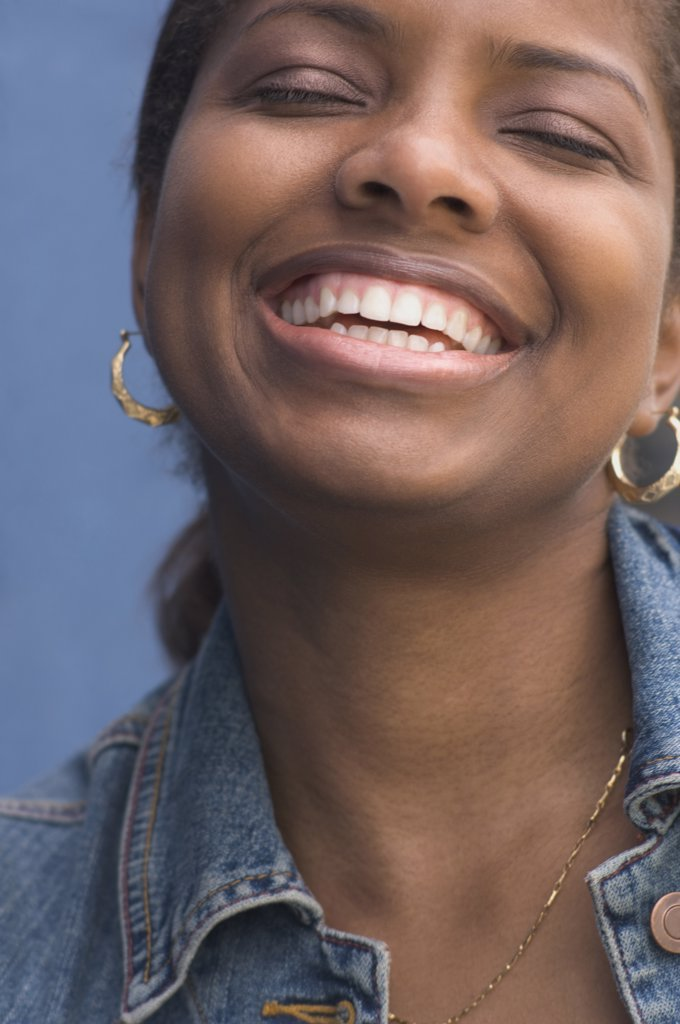 Stock Photo: 1589R-35709 Close up of African woman laughing