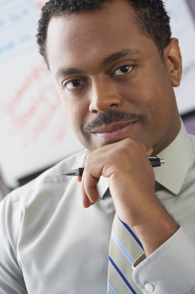 Close up of African businessman : Stock Photo