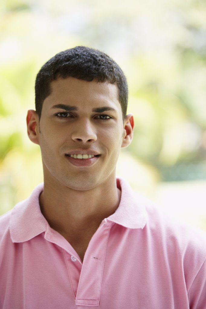 Close up of South American man smiling : Stock Photo