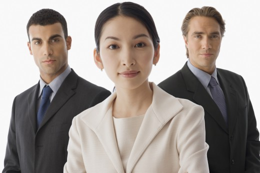 Stock Photo: 1589R-39495 Portrait of multi-ethnic businesspeople