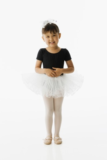 Stock Photo: 1589R-42674 Asian girl in ballet outfit