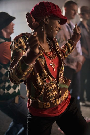 African woman dancing : Stock Photo
