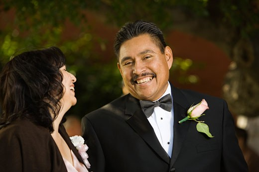 Stock Photo: 1589R-48007 Hispanic couple in evening wear