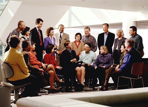 Multi-ethnic businesspeople at meeting : Stock Photo