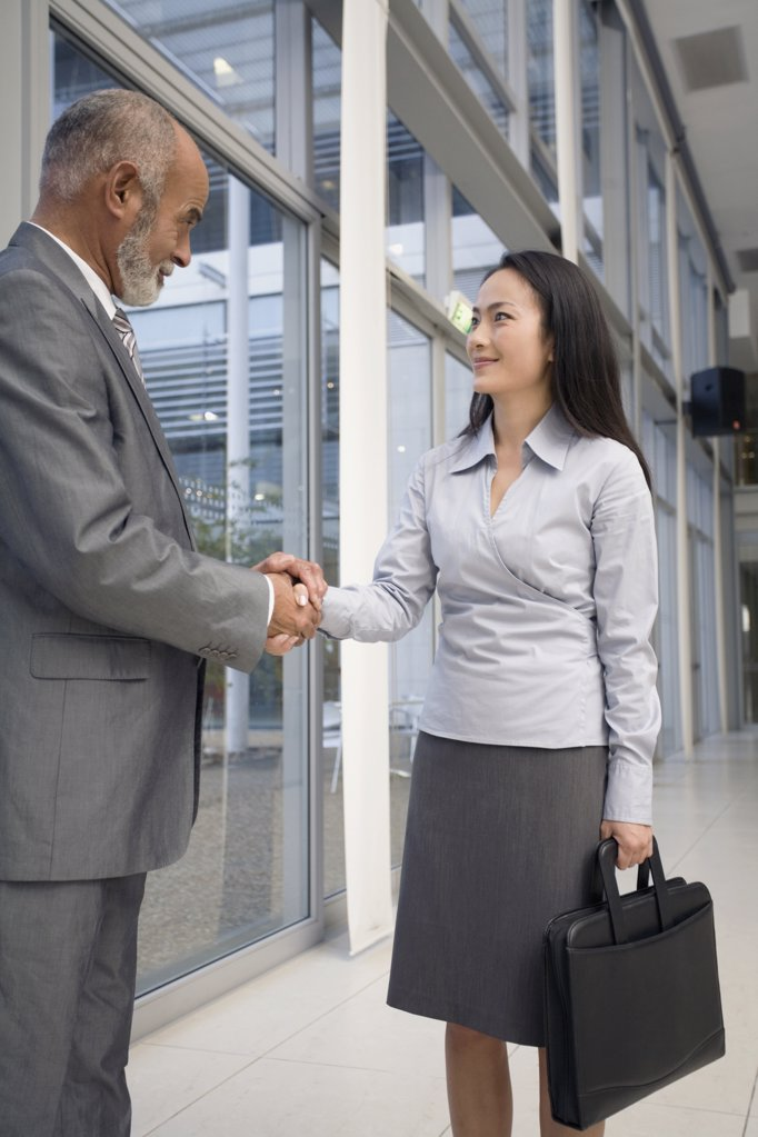 Multi-ethnic businesspeople shaking hands  : Stock Photo