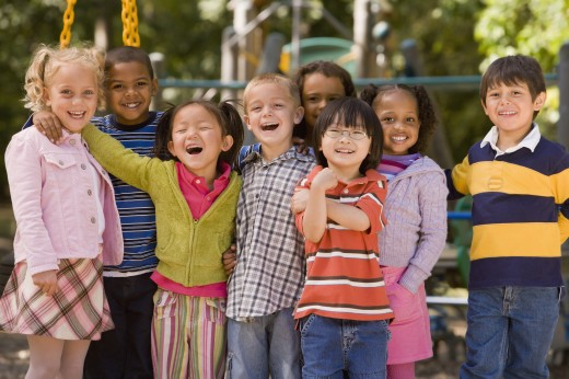 Stock Photo: 1589R-53174 Multi-ethnic children at playground