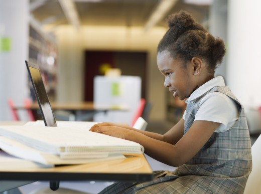 Stock Photo: 1589R-56824 African girl studying