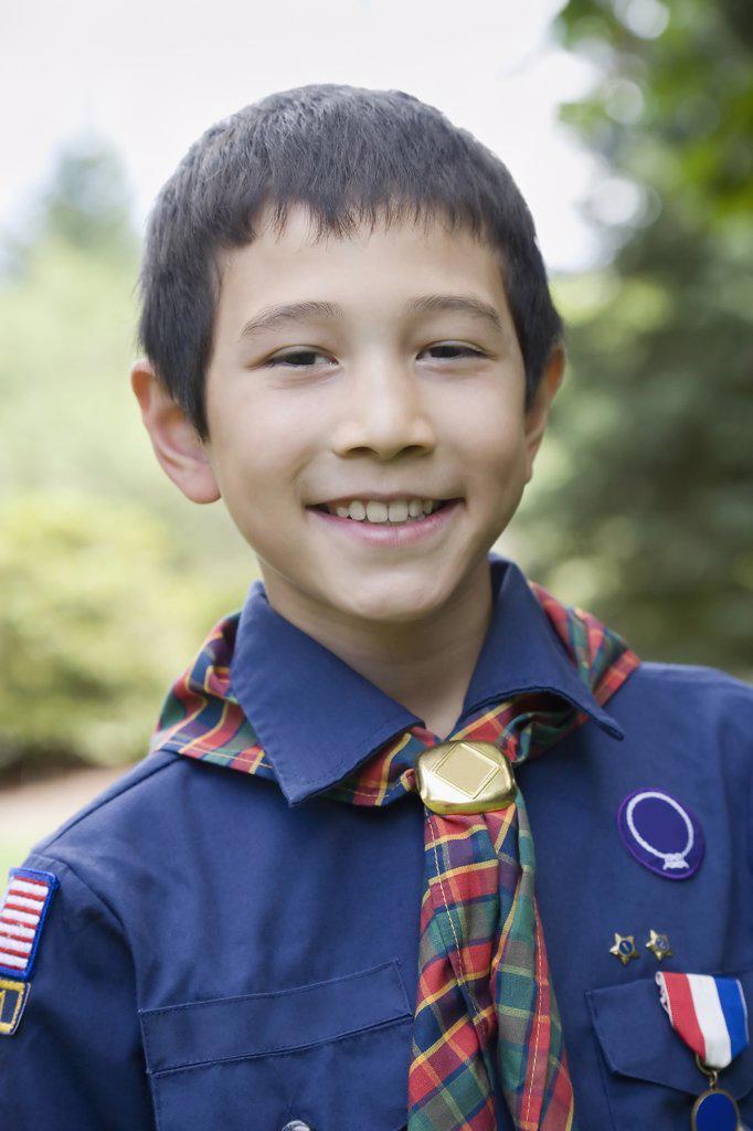 Stock Photo: 1589R-60361 Asian boy wearing uniform