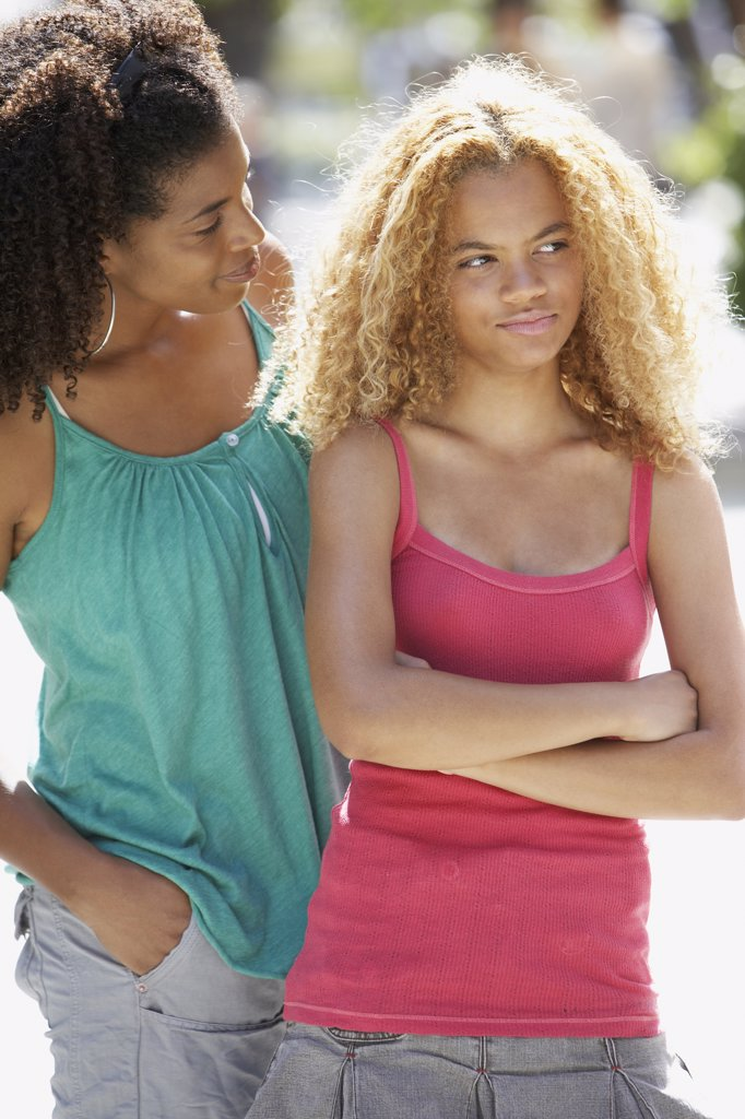 Stock Photo: 1589R-65092 African mother and daughter arguing