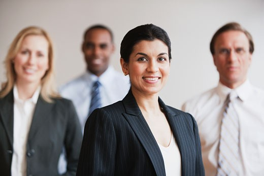 Stock Photo: 1589R-80372 Business people smiling