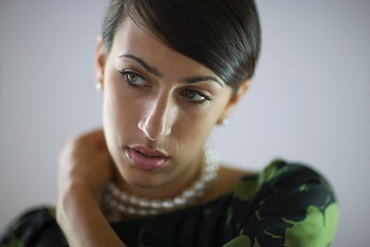 Stock Photo: 1589R-80583 Glamorous mixed race woman