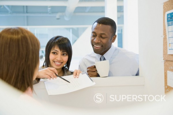 Stock Photo: 1589R-86627 Business people working in office