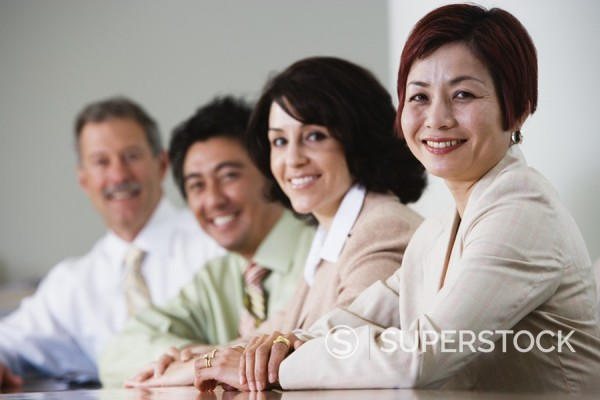 Stock Photo: 1589R-91570 Portrait of businesspeople in conference room