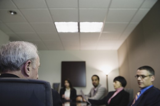 Stock Photo: 1589R-9510 Businesspeople in conference room