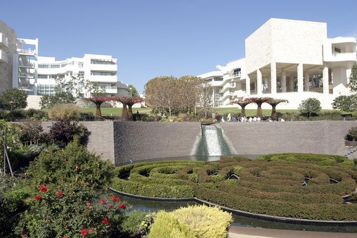 Stock Photo: 1590-1131 USA, Los Angeles, Gardens and buildings of Getty Centre
